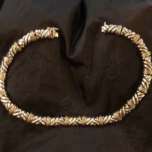 Sterling silver Gold accents Chic Choker